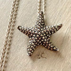 Jewelry - Sterling Silver Marcasite Starfish Necklace